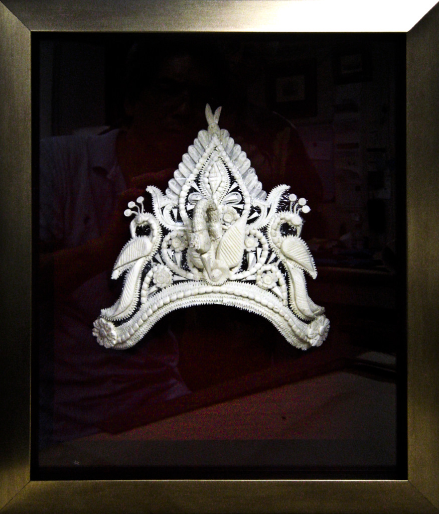 Shadow box: Indian wedding crown