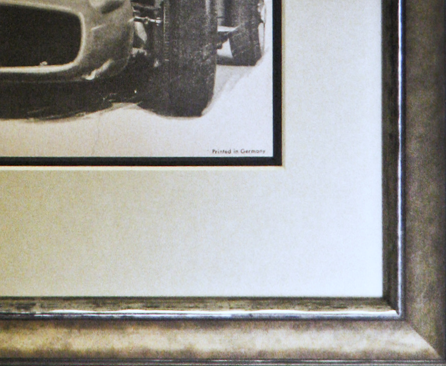Mercedes Benz framed vintage poster (detail)