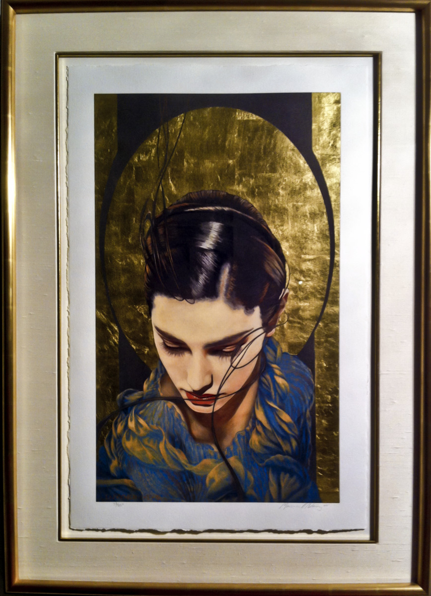 Oez framed original print