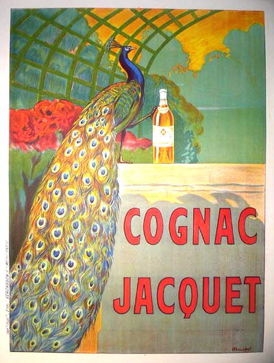 Before framing: Cognac Jacquet vintage poster