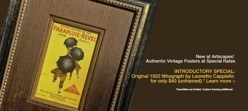 Vintage Poster Introductory Offer!
